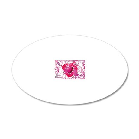 Love and Valentine Day 20x12 Oval Wall Decal