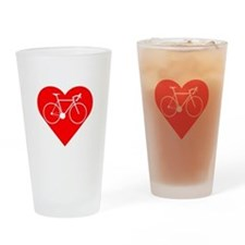 I Heart Cycling Drinking Glass