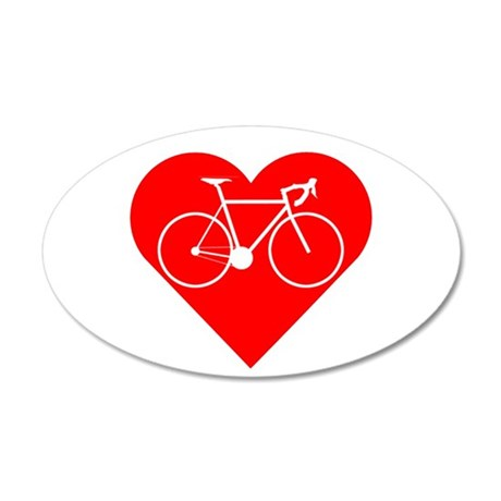 I Heart Cycling Wall Decal
