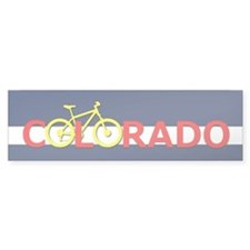 Colorado Mountain Bike Bumper Bumper Sticker