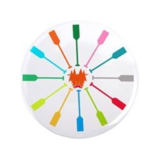 """dragon like colorful paddle 3.5"""" Button"""
