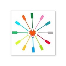 "dragon like colorful paddle Square Sticker 3"" x 3"""
