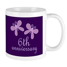 6th Anniversary Keepsake Small Mugss