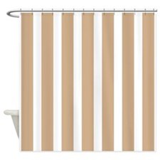 Brown And White Stripe Shower Curtains Brown And White Stripe Fabric Shower