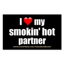 """Love My Smokin' Hot Partner"" Decal"