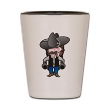 Cowboy with Guns and Hat Shot Glass