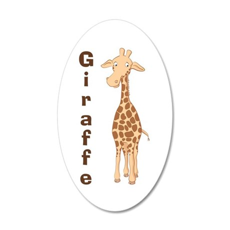 Cute Giraffe 35x21 Oval Wall Decal