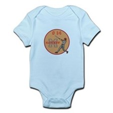 Baseball Player Monogram Number Body Suit