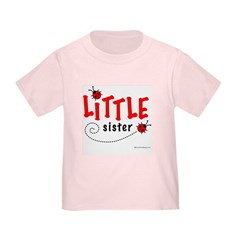 Little Sister Toddler T-Shirt (Ladybug)