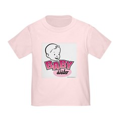 Baby Sister Toddler T-Shirt (Retro)