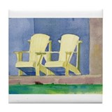 Two Chairs Tile Coaster