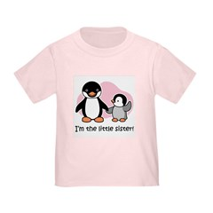 Little Sister - Penguin Toddler T-Shirt