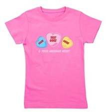 Personalized Candy Hearts Message of Love Girl's T