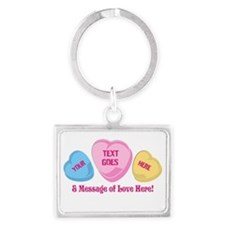 Personalized Candy Heart Valentine Special Keychai