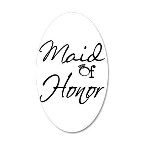 Maid of Honor 35x21 Oval Wall Decal
