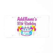 FABULOUS 30TH Aluminum License Plate