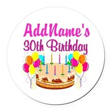 FABULOUS 30TH Round Car Magnet