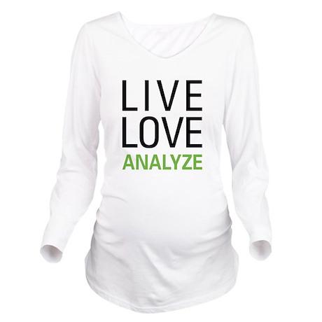 Live Love Analzye Long Sleeve Maternity T-Shirt