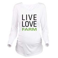 livefarm.png Long Sleeve Maternity T-Shirt