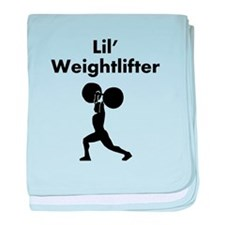 Lil Weightlifter baby blanket