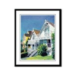 Victorian Cottages Framed Panel Print