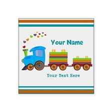 "Custom Kids Train Square Sticker 3"" x 3"""