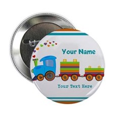"Custom Kids Train 2.25"" Button"