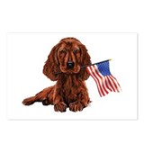 Irish Setter flag Postcards (Package of 8)