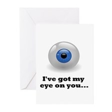 """I've Got My Eye On You"" Greeting cards (10 Pk)"