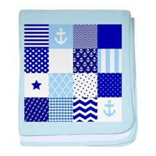 Blue Nautical Squares baby blanket