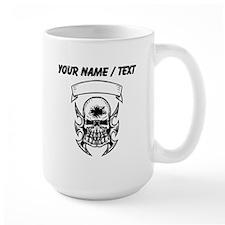 Custom Hole In Head Skull Mugs