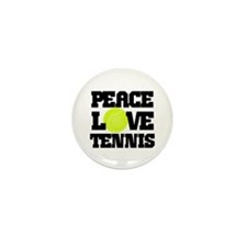 Peace, Love, Tennis Mini Button (100 pack)