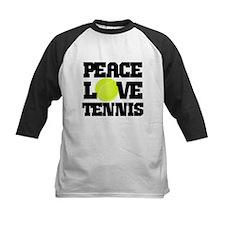 Peace, Love, Tennis Baseball Jersey