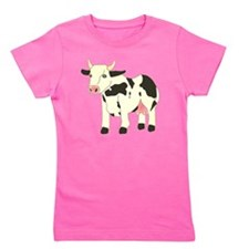 Black & Cream Spotty Cow Girl's Tee