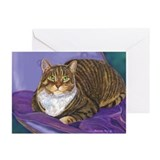 Tabby cat cards Greeting Cards (10 Pack)