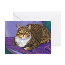 Fat Cat Tabby Cat Greeting Cards (Pk of 10)