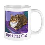 Fat Cat Tabby kitty cat Mug with portrait art