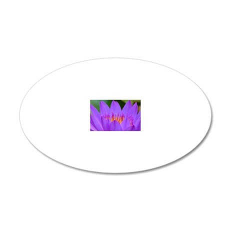 Lotus Flower 20x12 Oval Wall Decal