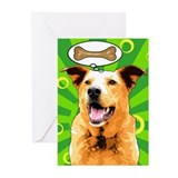 Chaco Dog Pop Art Greeting Cards (Pk of 10)