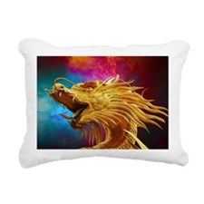 Golden Dragon Rectangular Canvas Pillow