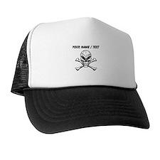 Custom Evil Skull And Crossbones Trucker Hat