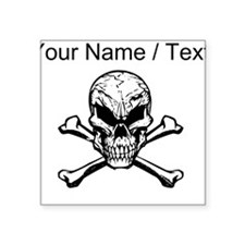 Custom Evil Skull And Crossbones Sticker
