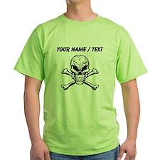 Custom Evil Skull And Crossbones T-Shirt