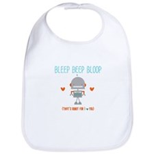Robot for I Love You Bib