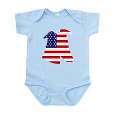 STAR SPANGLED GREY BLUE INFANT CREEPER