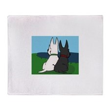 Scottie Friends Throw Blanket