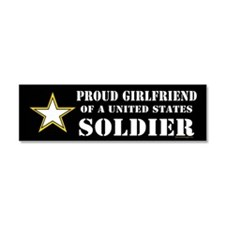 Cute Army girlfriend Car Magnet 10 x 3