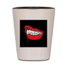 Vampire Lips Shot Glass