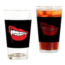 Vampire Lips Drinking Glass