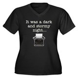 Dark & Stormy - Women's Plus Size V-Neck Dark T-S